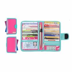 D Renbellony Card Holder Light Magenta Turquoise Tempat Kartu Dompet Kartu Card Organizer Diskon Jawa Tengah