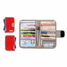 Jual D Renbellony Card Holder Light Red Tempat Kartu Dompet Kartu Card Organizer D Renbellony