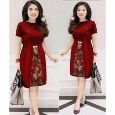 Dres Batik Kombinasi Fashion Wanita
