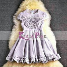 DRESS ANAK PEREMPUAN : KOREA PINK CUTE DRESS CERUTI#3