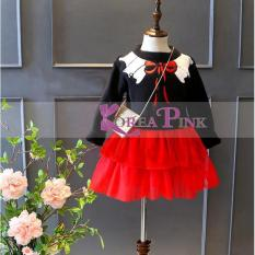 DRESS ANAK PEREMPUAN : KOREA PINK RED TUTU