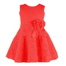 Dress Anak Perempuan Merah Dress Import Imlek Gaun Pesta UlangTahun Anak Girls