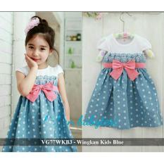 Dress Anak Termurah - Jual Baju Anak - VG77WKB3 - Wingkan fit 2-4 tahun