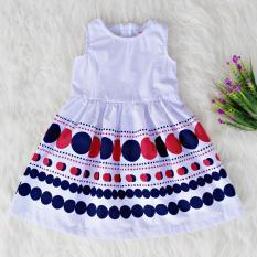 Harga Termurah Dress Baju Anak Perempuan Sleeveless Gym Polkadot