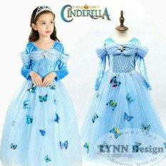 Lynn Design - Dress Baju Kostum Princess Cinderella Anak Long_Frozen Friends