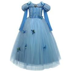 Lynn Design - Dress Baju Kostum Princess Cinderella Anak Long_Frozen Friends