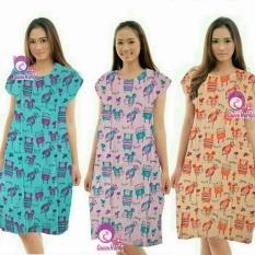 Dress Baju Tidur Lucu Adem Kode MSE [Warna Aqua]