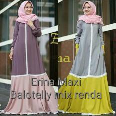 Dress Cantik / Baju Hijab Murah / Grosir Pakaian Wanita : Erina Maxi