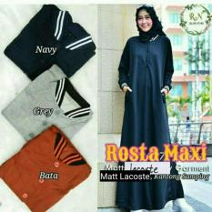 Dress Casual / Gamis Sehari Hari / Baju Hijab Busui Murah : Rosta Maxi