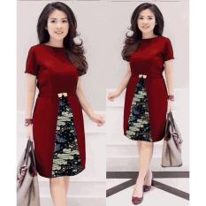 Promo Dress Chika Xl Maroon Di Indonesia