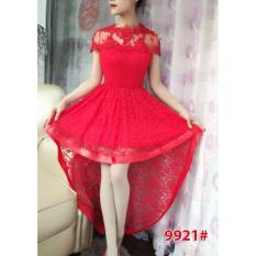 9921a# dress ekor / dress fashion / gaun pesta / gaun import