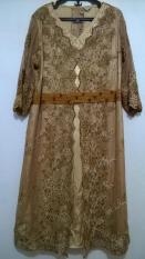 Dress Full Bordir Dan Payet Gold Rumah Klambi Big Size