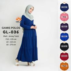 Dress Gamis Polos Jersey Twist Premium Quality