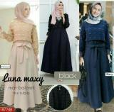 Review Dress Hitam Cantik Baju Kondangan Murah Gamis Pesta Luna Maxi