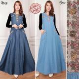Spesifikasi Dress Jeans Maxi Panjang Wanita Jumbo Loong Dress Desena Blue Murah Berkualitas