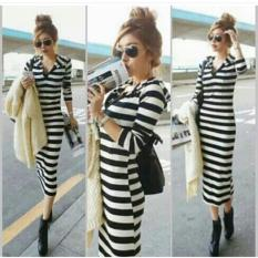 Dress long leisy hoodie BAJU MURAH KONVEKSI TANAH ABANG