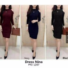 Jual Beli Online Dress Nina Dres Nina Bahan Spandek Soft Fit L Recomend 1R