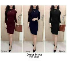 Dress Nina - Dres Nina - Bahan Spandek Soft Fit L - Recomend    2725b9eab2