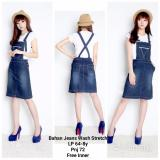 Harga Dress Overall Jeans Pendek Wanita Mini Dress Nirima Biru Tua