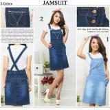Spesifikasi Dress Overall Jeans Wanita Mini Dress Niki 01 Biru Muda Baru