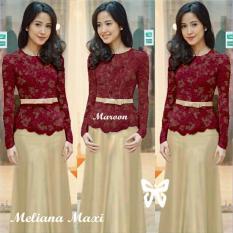 Dress - Pakaian Wanita Pesta - Fashionable - SS Meliana Mocca 5b69497e0e