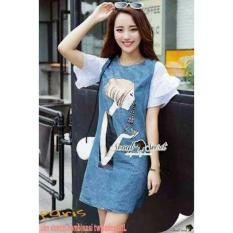 Spesifikasi Dress Paris Bahan Denim Fit L 1A Murah