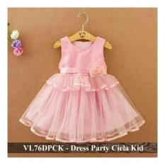 Dress Pesta Anak Murah - Pusat Baju Anak - VL76DPCK - party ciela fit 3-5 tahun
