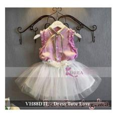 Dress Pesta Anak Terkini - Pusat Baju Anak - VH88DTL - dress tutu love ft 4-5 tahun