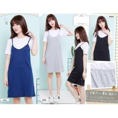 Angela B collection - Pinafore dress in black and white - D204BC