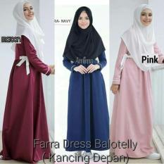 Dress Pink Lucu / Gamis Busui Murah / Baju Menyusui : Farra Dress