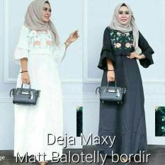 Dress Putih / Gamis Hitam / Baju Pesta / Grosir Pakaian : Deja Dress