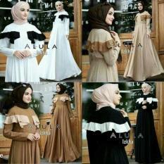 Dress Putih / Gamis Hitam / Baju Pesta/ Pakaian Hijab : Alula Dress