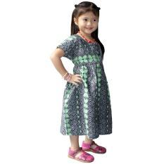 Dress Batik Anak, Baju Tidur Anak, Piyama Anak, Ukuran XL Usia 5-6 Tahun (DKA003-03) Batik Alhadi