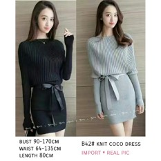 Beli Dress Wanita Fashionable Dress Knit Coco Secara Angsuran