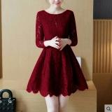 Pusat Jual Beli Dress Wanita Fashionnable Dress Brukat Melinda Maroon Dki Jakarta