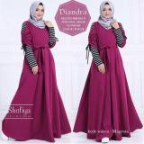 Spesifikasi Dress Wanita Muslim Diandra Magenta Terbaru