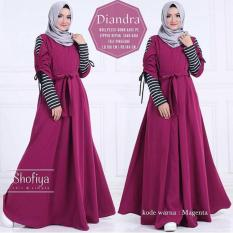 Jual Beli Dress Wanita Muslim Diandra Magenta Jawa Barat