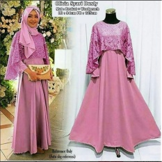 Dress wanita olivia syari dusty