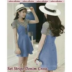 Jual Dress Wanita Terbaru Pusat Baju Remaja Bagus Dress Denim Crossy Import