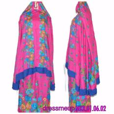 Dressmeup Mukena Bali Rempel Floral (Pink)