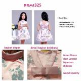 Jual Drmi325 Dress Pink Flower Grey Soft Jacquard Branded Original