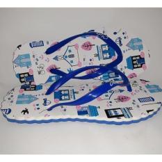 Drooms Sandal Chika/ Sandal Jepit Wanita/ Sandal Lucu/ Sandal Flip Flop Brand New Motif Restaurant