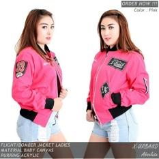 Jual Ds Jaket Bomber Wanita X Urband Best Seller Pink Termurah