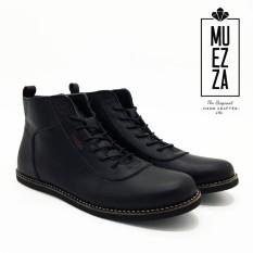 DSH Sepatu Model Brodo Boots Kulit / Sepatu Pria Dan Wanita Erudite Muezza Storm Kulit Asli - Hitam