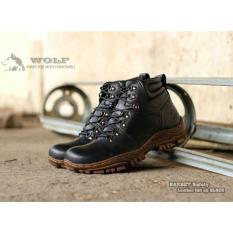 Harga Dsh Sepatu Tracking Pria Sepatu Touring Boots Kulit Wolf Barbet Safety Dsh Cosshop Original