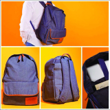 Beli Dtripe Basic Denim Backpack Navy Blue Dtripe Inc Murah