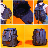 Beli Dtripe Original Denim Backpack Navy Blue Pake Kartu Kredit