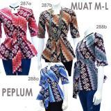 Jual Dua Melati Atasan Blouse Batik Modern Stretch Peplum La288 Di Indonesia