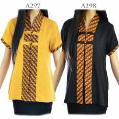Dua Melati Atasan Blouse Batik Sogan Modern Kutu Baru Katun Ima LA297
