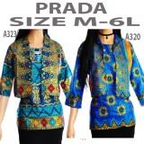 Harga Dua Melati Atasan Songket Batik Wanita Blus Tunik Blouse Kemeja Batik La320
